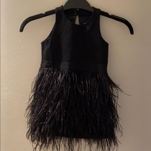 Milly kids size 3 black feather dress brand new